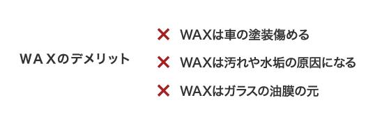 WAXのデメリット